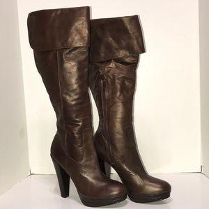 Carlos Santana INTRIGUE Tall Copper Brown Boots